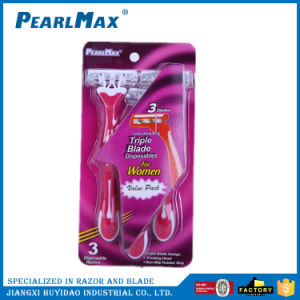 Triple Blade Razor Pink Color for Women pictures & photos