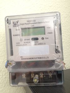 Single Phase Active Power Prepaid Kwh Meter with RF Function pictures & photos