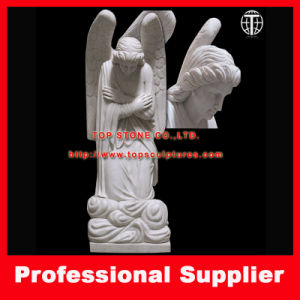 Marble Statue Kneeling Angel Stone Carving Marble Sculpture pictures & photos