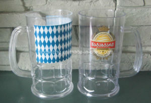 Plastic Beer Cup with Handle/Plastic Mini Beer Mug Shot Glass pictures & photos