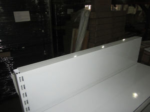 Ce Approved Flat Back Cold Rolled Steel Supermarket Shelf Rack pictures & photos