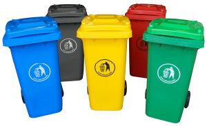 Multi-Colored Plastic Recycling Bin pictures & photos