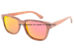 Wood Sunglasses with Mirror Red Tac Polarized Lens (GA218-3)