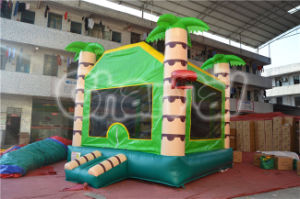 Children Inflatable Jungle Jumping Bouncer with Basketball Hoop (CHB529) pictures & photos