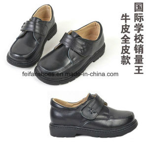 High Quality Classic Leather Shoes Student Shoes Dress Shoes (FF611-2) pictures & photos
