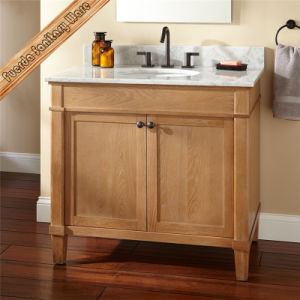 Oak Floor Mounted Bathroom Combo Vanity Solid Wood Bathroom Vanity pictures & photos