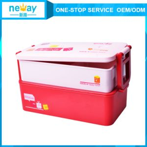 China Tableware Portable Food Grade Plastic Lunch Box pictures & photos