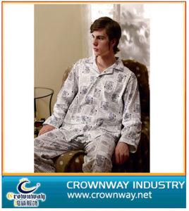 100% Cotton Mens Pajamas Suit pictures & photos