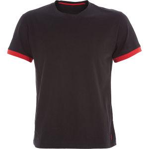 High Quality Pure Cotton Black Men Blank T-Shirt pictures & photos