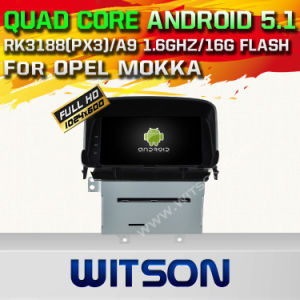 Witson Android 5.1 Car DVD GPS for Opel Mokka with Chipset 1080P 16g ROM WiFi 3G Internet DVR Support (A5549) pictures & photos