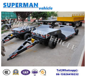 Four Axle Pulling Drawbar Full Dolly Trailer/ Lowbed Semi Trailer pictures & photos