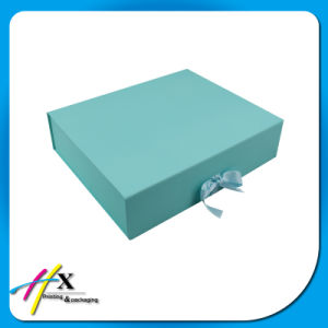 Foldable Custom Paper Packaging Box with Ribbon Closure pictures & photos