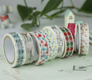 Customs Print Book Scrapping Japanese Washi Tape