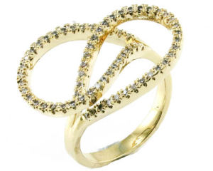 Fashion Jewelry for Wedding Love Gold Plated 925 Sterling Silver Finger Ring (R10404) pictures & photos