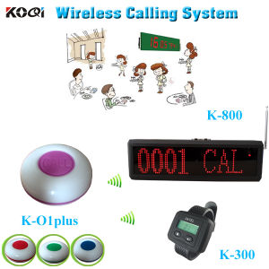 Kitchen Pager System Long Range Watch K-300 Waterproof Call Button K-O1plus for Restaurant pictures & photos