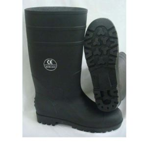 Black Industrial PVC Rain Working Safety Boots with Steel pictures & photos