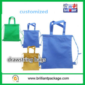 Blue Simple Style Fashion Drawstring Bag pictures & photos