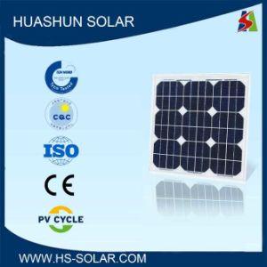 Huashun 20-25W 125X125 Mini Monocrystalline Solar Panel (SH-25S5)