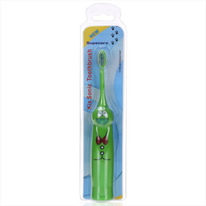 Ce/RoHS/FDA Approved Timer Sonicare Battery Operated Electric Toothbrush /Cartoon Kid Toothbrush with Battery Wy839-D1301 pictures & photos