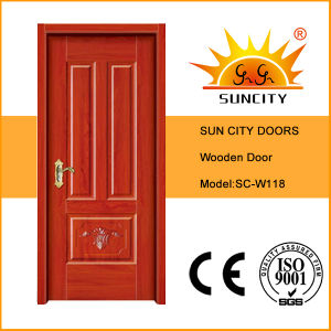 Cheap Price Room Solid Wood Door Interior (SC-W118) pictures & photos