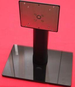 Tilt/Pivot/Elevation/Swivel /Adjustable Glass Monitor Stand