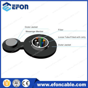 Aerial Figure8 Self Supporting 2-24cores Optical Fiber Cable pictures & photos