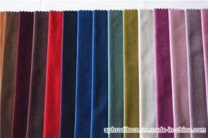 Polyester Upholstery Velvet Curtain Fabric with SGS Approved pictures & photos