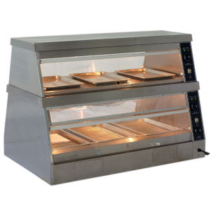 Automatic Professional Industrial Glass Food Warmer Display Showcase pictures & photos