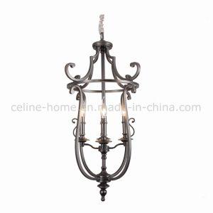 Four Lights Antique Brass Iron Pendant Lamp (SL2189-4)