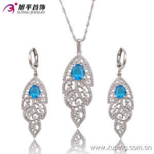 Luxury Rhodium Chandeliers CZ Diamond Fashion Imitation Jewelry Set 63682 pictures & photos