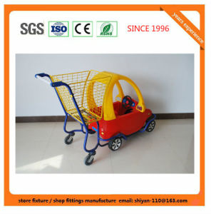 High Quality Supermarket Shop Retail Shopping Trolley Manufacture Metal and Zinc/Galvanized/ Chrome Surface 08013