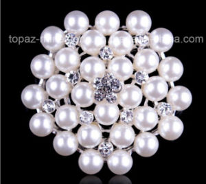 Pearl Brooch Rhinestones Brooch for Wedding Dress Accessories (TB-018) pictures & photos