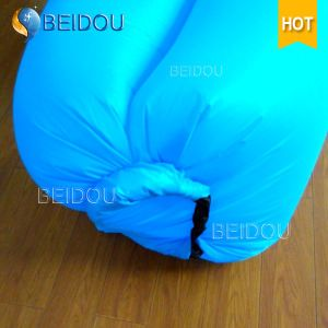 Single Mouth Inflatable Banana Sleeping Bags Hangout Hammock Inflatable Air Sofa Beach Bed pictures & photos