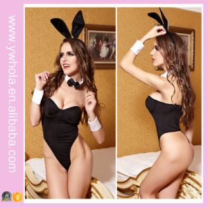 Black Sexy Costume Women Underwear Bunny Girl Adult Sexy Lingerie pictures & photos