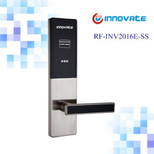 Digital Lock with RF Card Reader Hotel Card System Inner Door Handle Locks pictures & photos