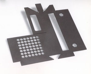 Black Galvanized Powder Coating Sheet Metal Stamping Part pictures & photos