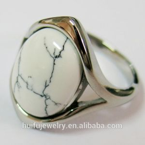 Fashion Stainless Steel White Stone Ring Designs for Men pictures & photos