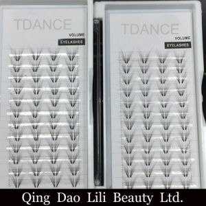 Lilibeauty C D Curl 7dwholesale Price Butterfly Premade Fanned Volume Lashes 8-15mm C D Curl 7D Russian Fans Eyelash Extension pictures & photos