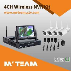 Wireless 4CH CCTV System Kit with 7 Inch LCD Screen (MVT-K04) pictures & photos