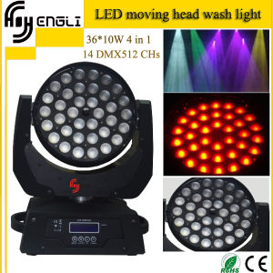 36PCS*10W 4in1 LED Moving Head Wash Light (HL-005YS) pictures & photos