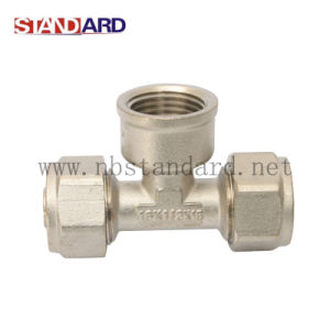 Brass Compression Tee for Pex Pipe pictures & photos