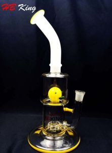 Hbking New Design Glass Product Recycler Percolator Glass Water Pipe pictures & photos
