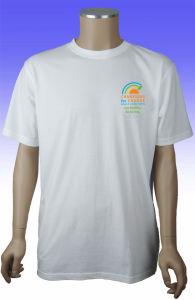 Custom Men Short Sleeve 100% Cotton White T-Shirt pictures & photos