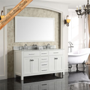 Fed-1985 New Design Solid Wood Bathroom Vanity Cabinet Furniture with Mirror pictures & photos