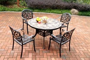 Elegant 5 PC Dining Sets (Table with tiles) Furniture for Garden pictures & photos