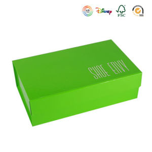 Green Foldable Chipboard High-Heeled Shoes Box (GB-025) pictures & photos