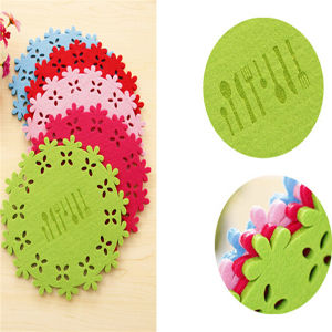 Fashionable Patterns Laser Cutting Felt Coaster Placemat pictures & photos