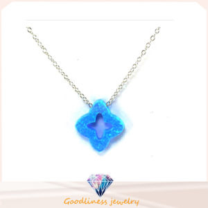 Romantic Star Shape Opal Pendant Necklaces Silver Women Girls Jewelry (N6580) pictures & photos