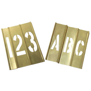 Brass Interlocking Letters and Numbers Stencil for Clear Warnings (20Y522)