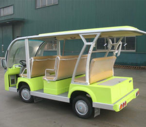 Electric Shuttle Bus Sightseeing Bus with Long Roof pictures & photos